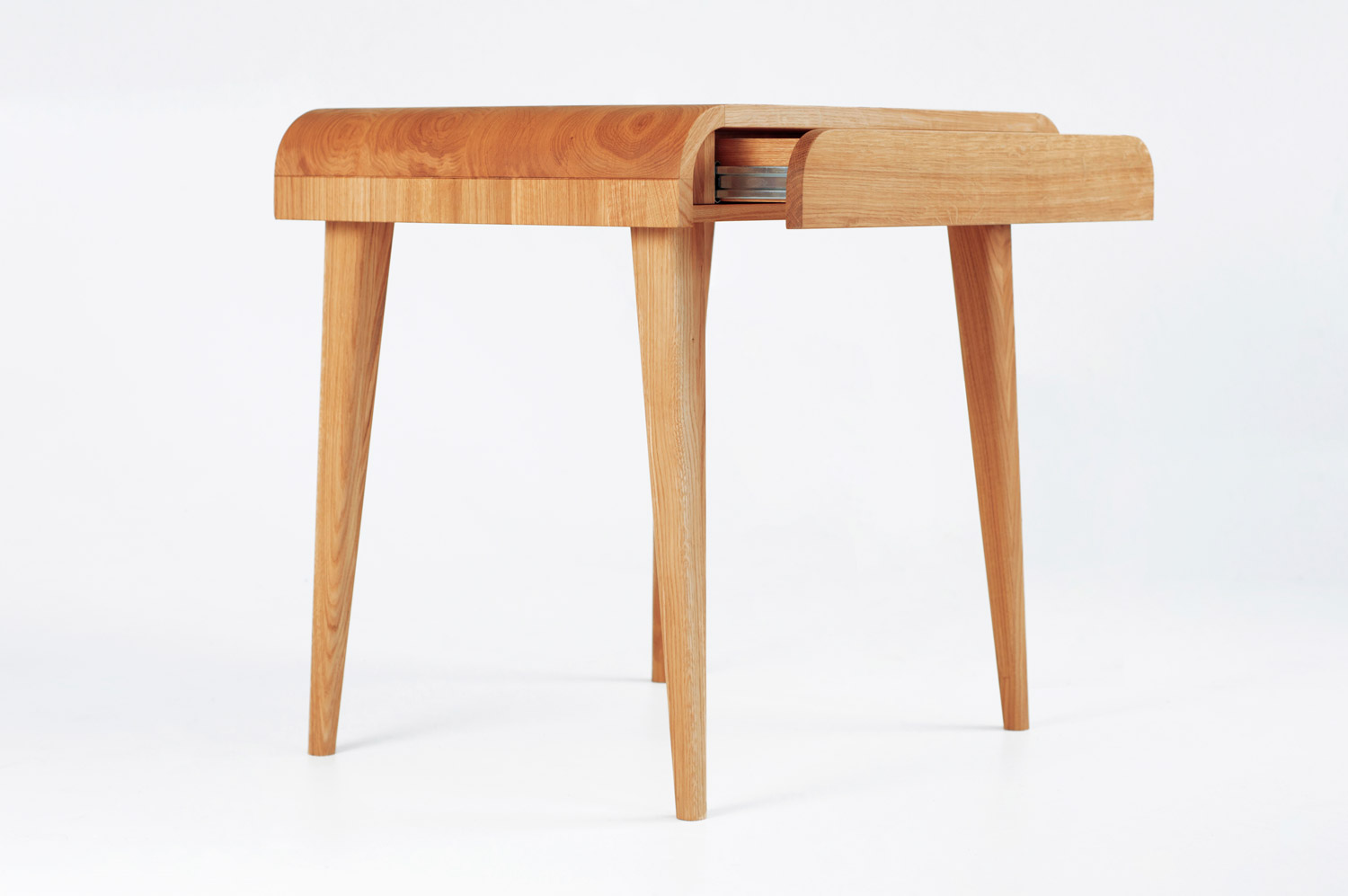 Maya Solid Oak Wood Computer Desk