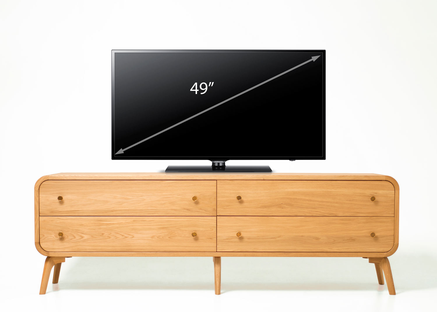 Mia Solid Oak Wood TV Stand/Sideboard